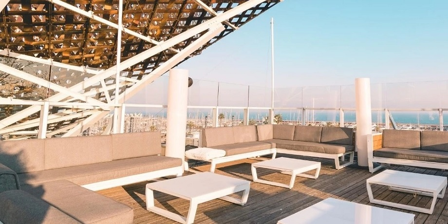 open air rooftop party barcelona
