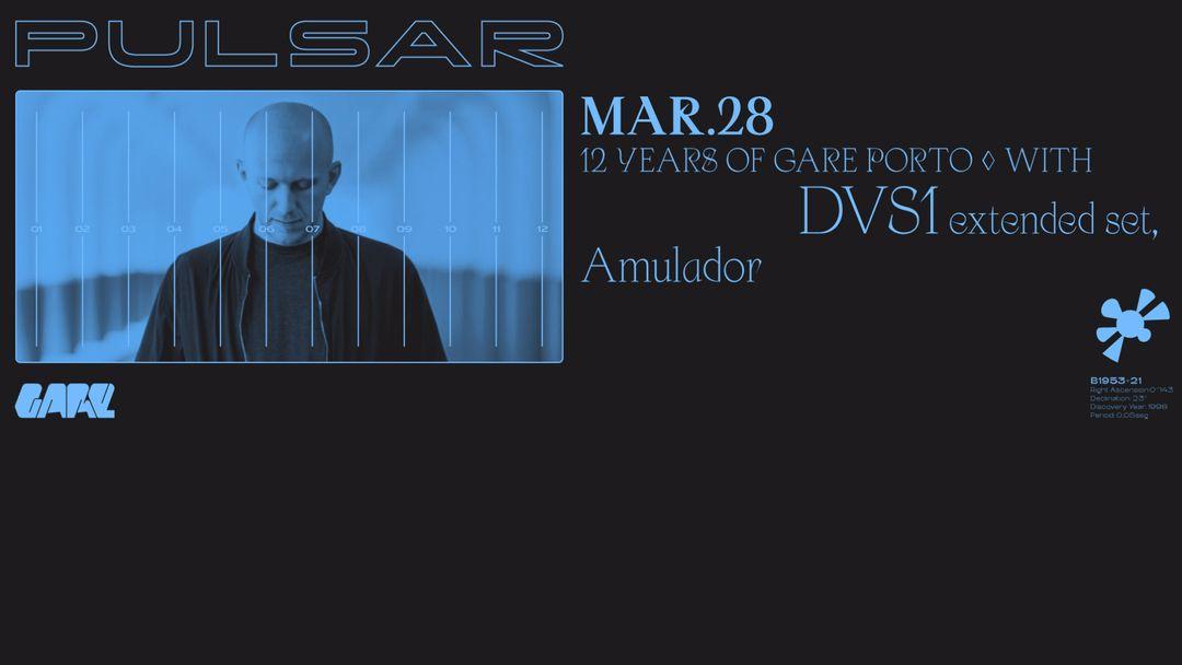 Cartell de l'esdeveniment 12 Years of Gare w/ DVS1 extended set | Amulador