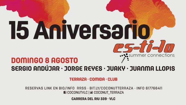 Cover for event: 15 Aniversario es-ti-lo - Terraza coconut - Spook