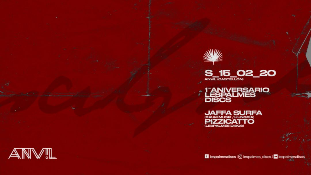 1er Aniversario Lespalmes Discs -Eventplakat