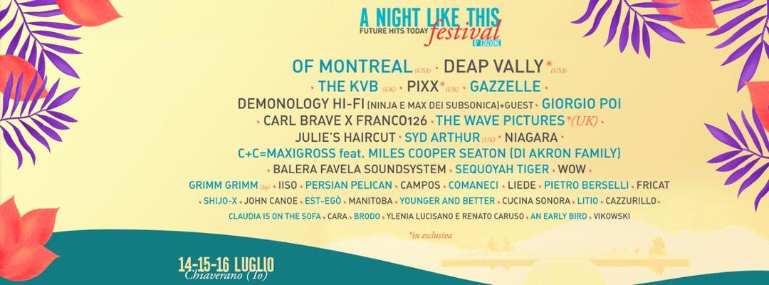 Couverture de l'événement A Night Like This Festival
