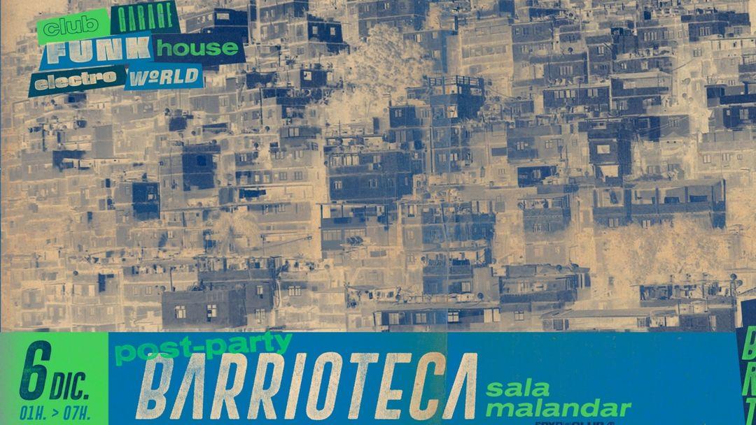 Cartel del evento After Party Barrioteca