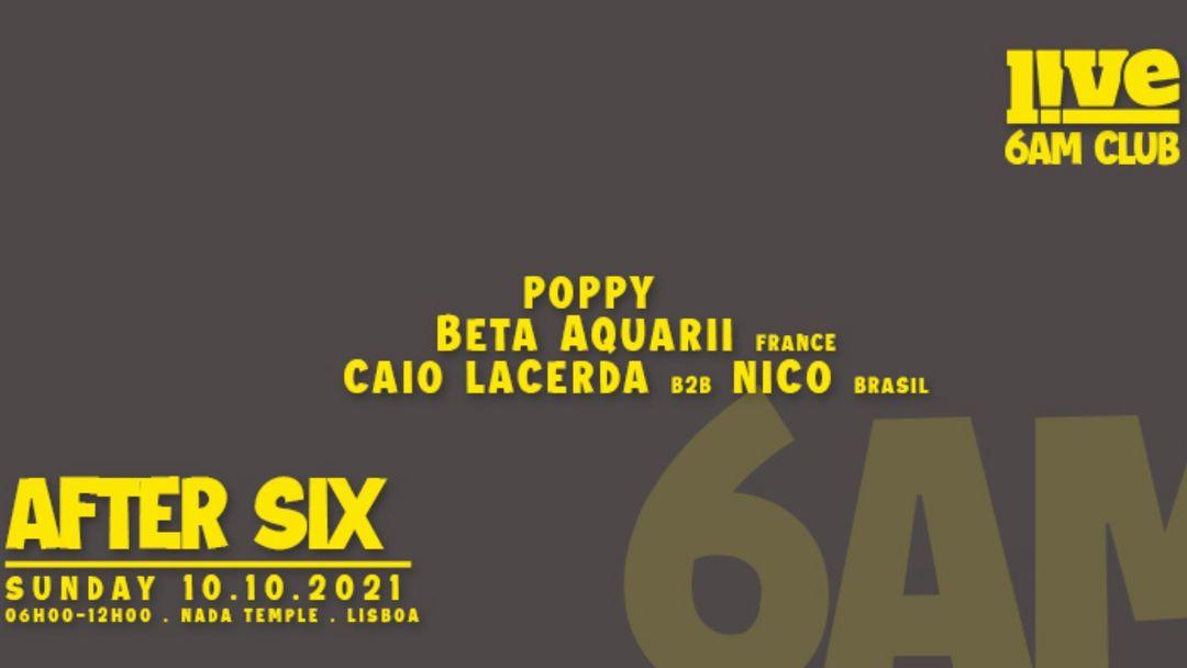 Cartel del evento After Six - LIVE Lisboa 6am club