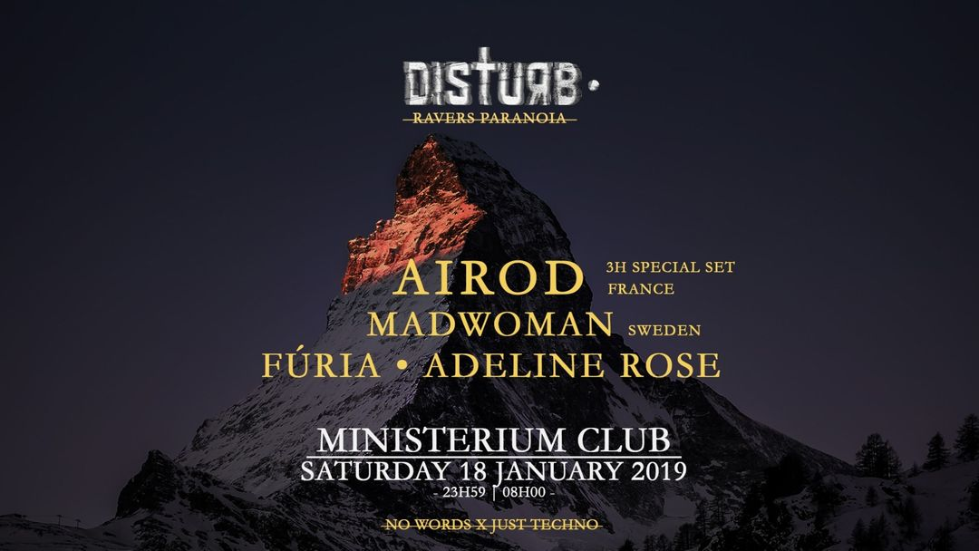 AIROD (3h) | Disturb • Ravers Paranoia-Eventplakat
