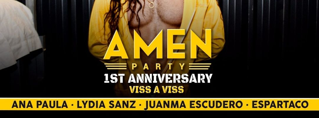Cartel del evento Amen Party - 1st Anniversary