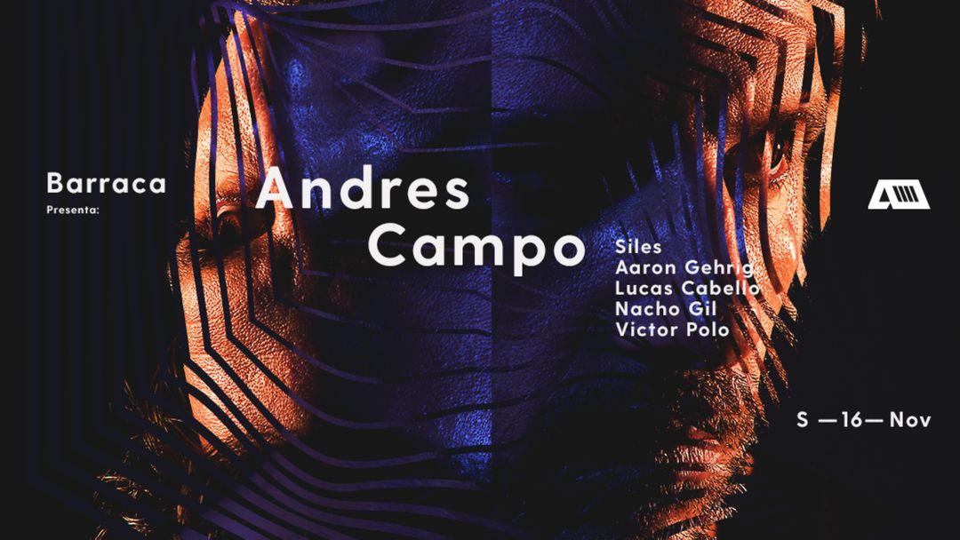 Cartel del evento Andrés Campo