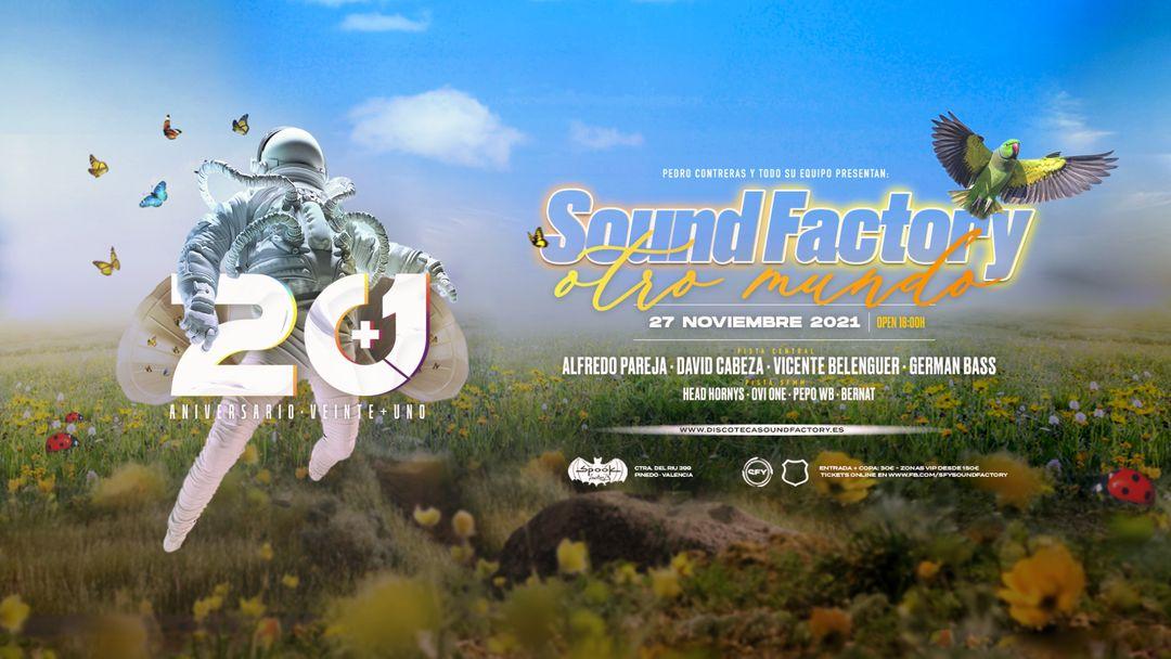 """Aniversario 20+1 Sound Factory """"Otro Mundo"""" event cover"""