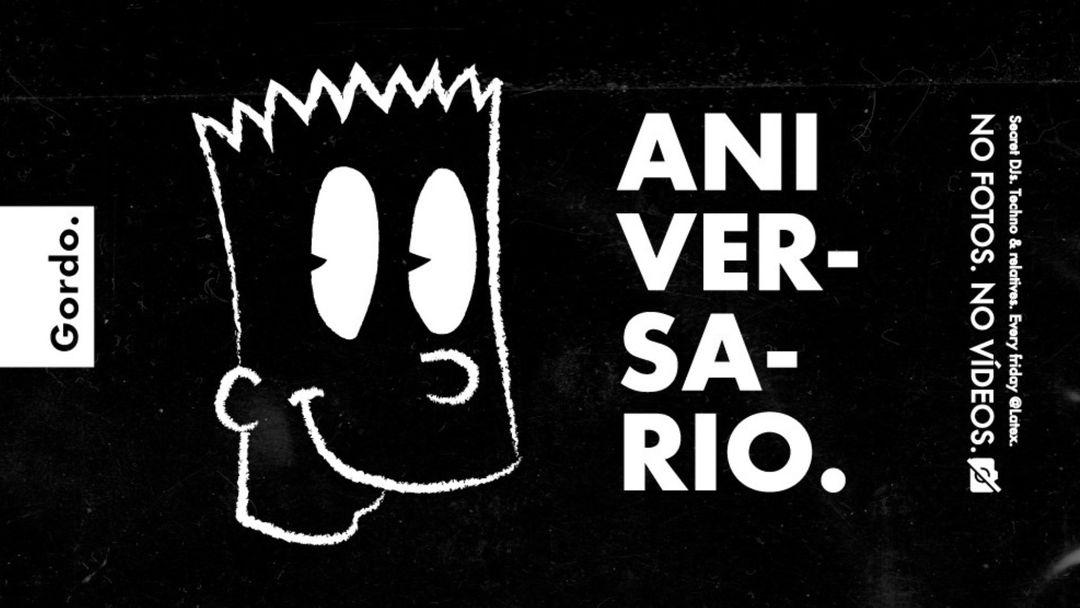 Couverture de l'événement Aniversario GORDO en LÁTEX  || Every Friday. Advanced electronic music. Secret Line-up. No photos. No video.
