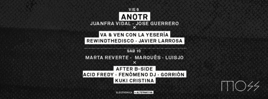 Cartel del evento Anotr + Juanfra Vidal + Jose Guerrero