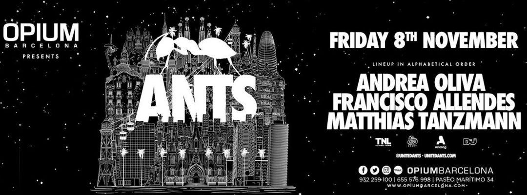 ANTS pres. Andrea Oliva, Francisco Allendes and Matthias Tanzmann event cover