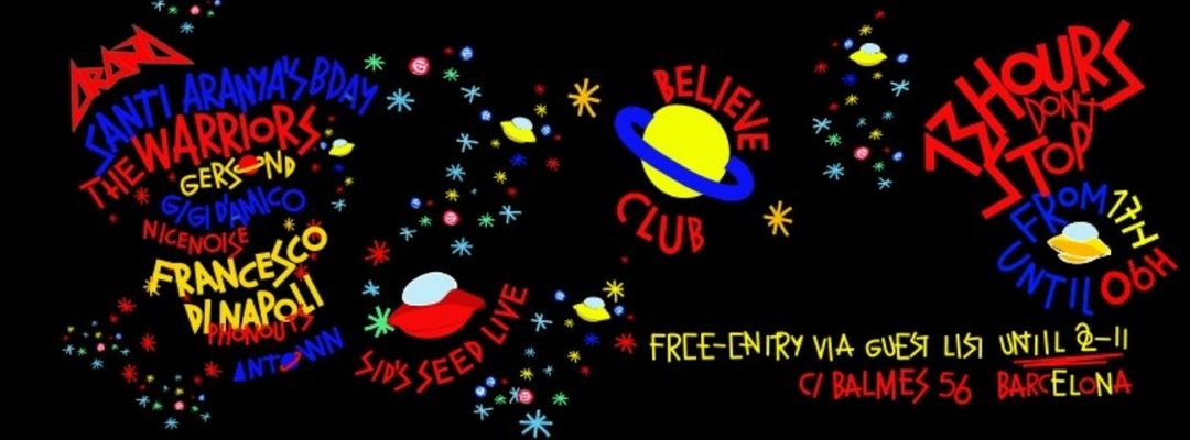 Cartel del evento Araña Club - 13 Hours Non Stop!