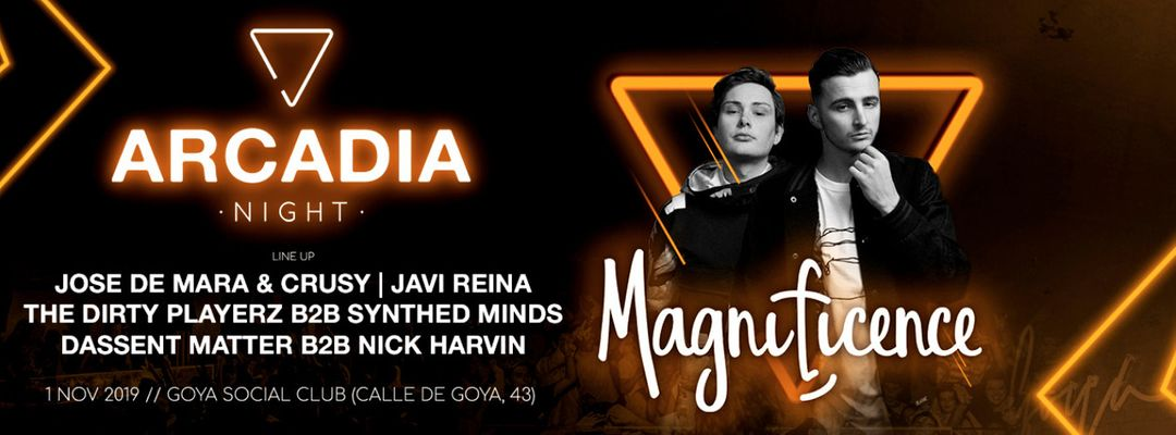 Capa do evento Arcadia Night w/ Magnificence