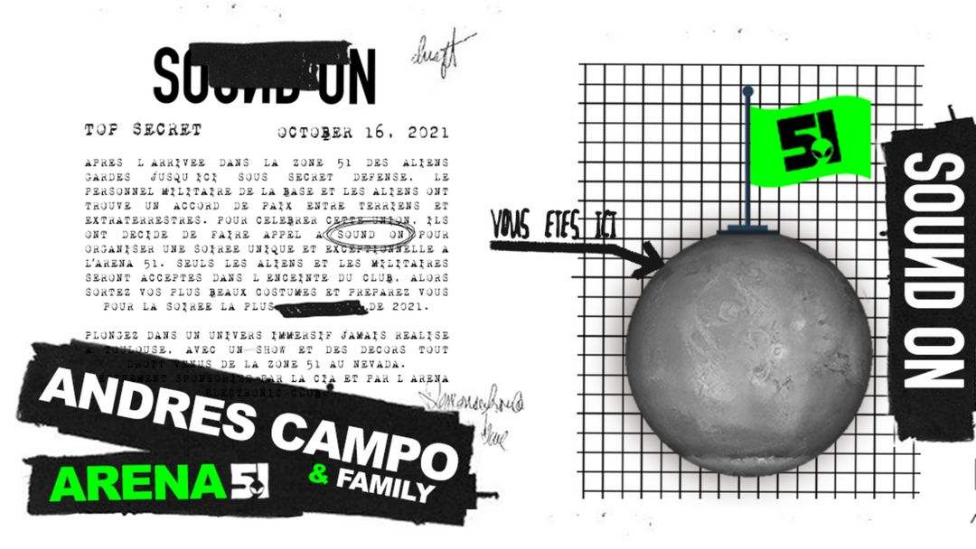 Cartel del evento ARENA 51 / Andres Campo & Family