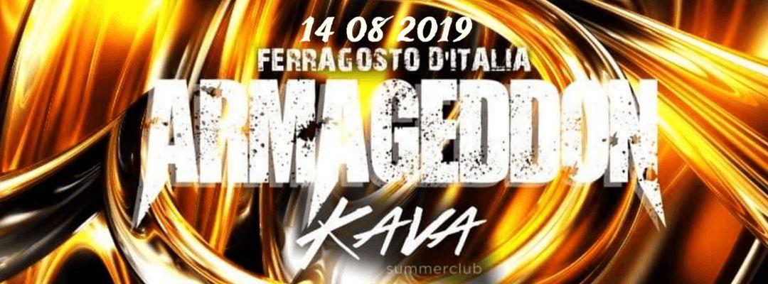 Cartel del evento ARMAGEDDON - FERRAGOSTO D'ITALIA