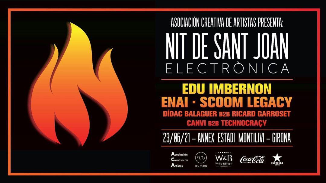 Copertina evento ASOCIACIÓN CREATIVA DE ARTISTAS PRESENTA: NIT DE SANT JOAN ELECTRONICA