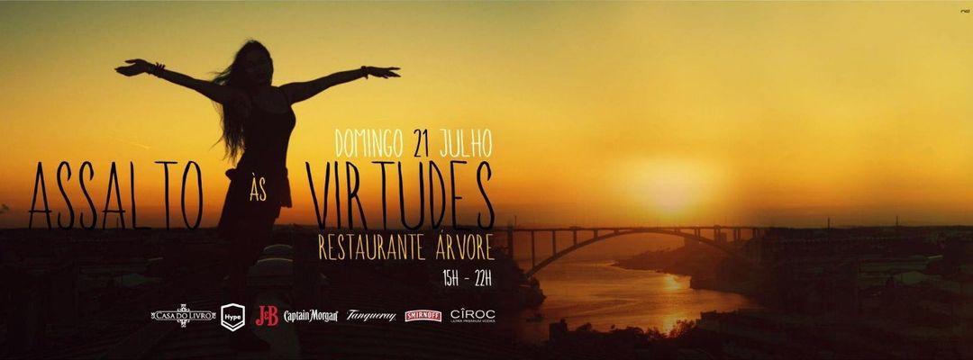 Cartel del evento Assalto às Virtudes