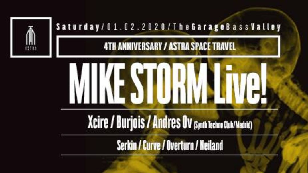 Cartel del evento Astra Space Travel 4th Anniversary w/ Mike Storm Live!