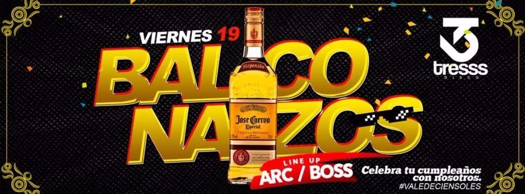 Cartel del evento BALCONAZOS - VIE 19 // TRESSS DISCO