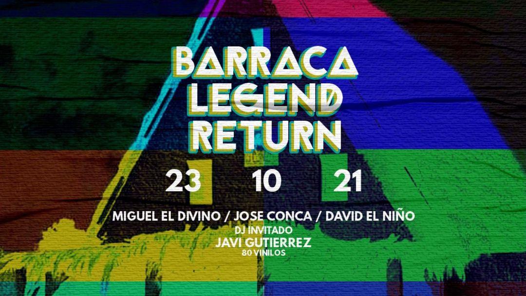 Cartel del evento Barraca Legend Return