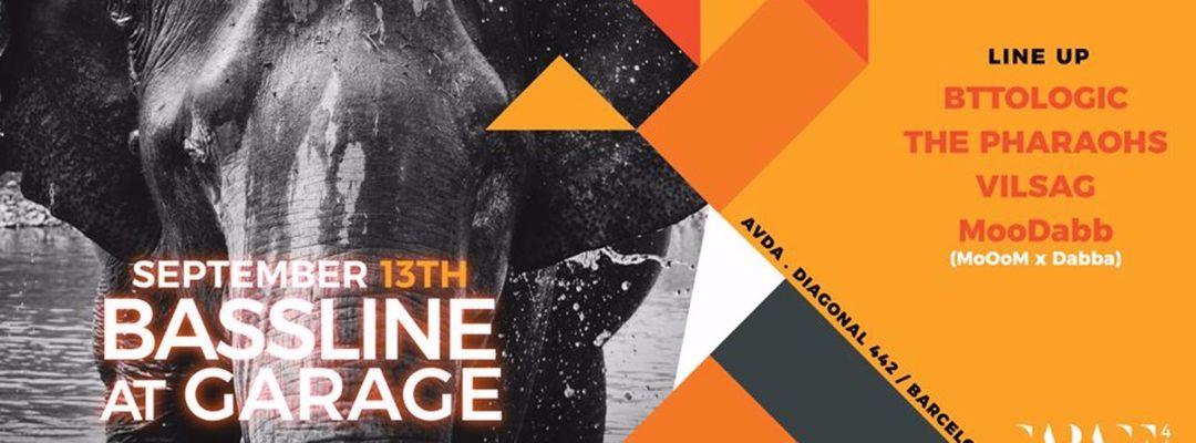 Cartel del evento Bassline @ garage442