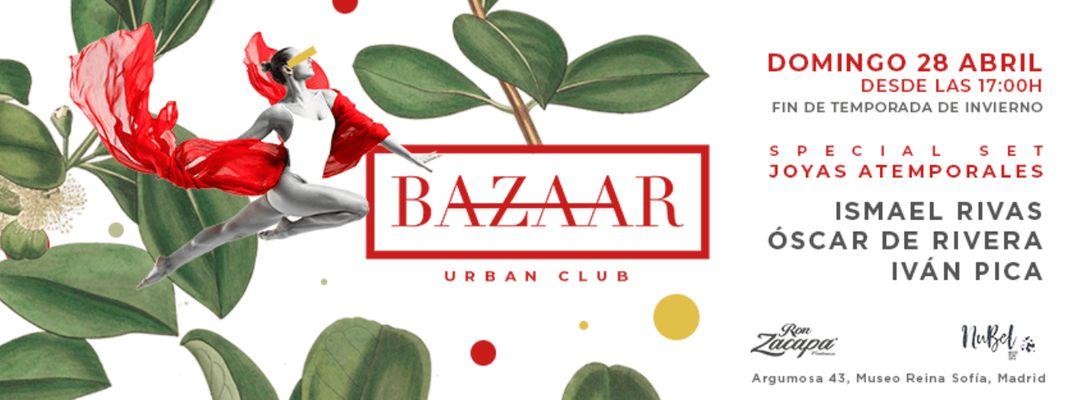 Cartel del evento Bazaar Urban Club 28/04/19