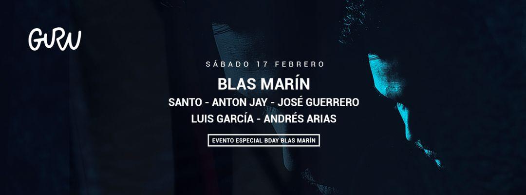 Cartel del evento Bday Blas Marín