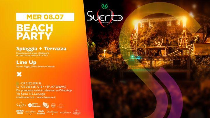 Cover for event: Beach Party - La Suerte Summer Club - Mer 08/07