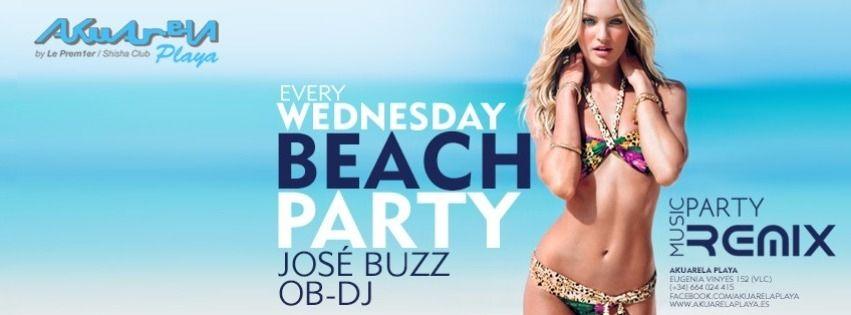 Cartel del evento Beach Party | Music Party Remix