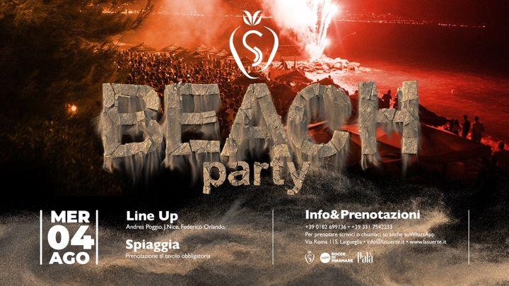 Cover for event: Beach Party Night - 04/08 La Suerte