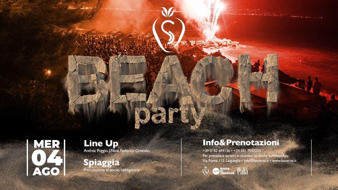 Copertina evento Beach Party Night - 04/08 La Suerte