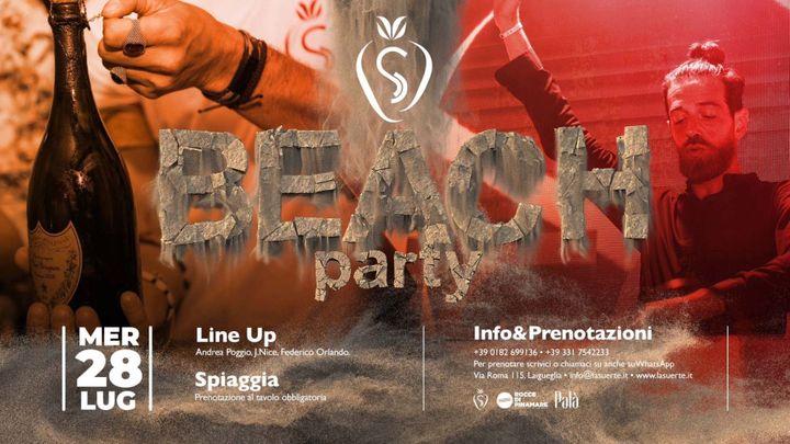 Cover for event: Beach Party Night - 28/07 La Suerte