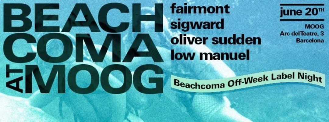 Cartel del evento Beachcoma Off Week Label Night with Fairmont