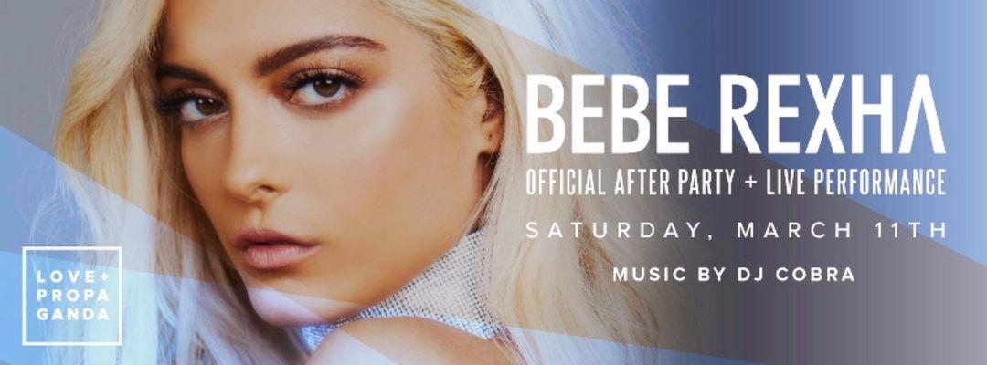 Cartel del evento Bebe Rexha After Party + Live Performance w/ DJ Cobra