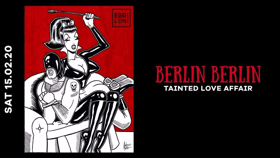 Cartel del evento BERLIN BERLIN: TAINTED LOVE AFFAIR/ / PARAMIDA, MICHELLE MANETTI