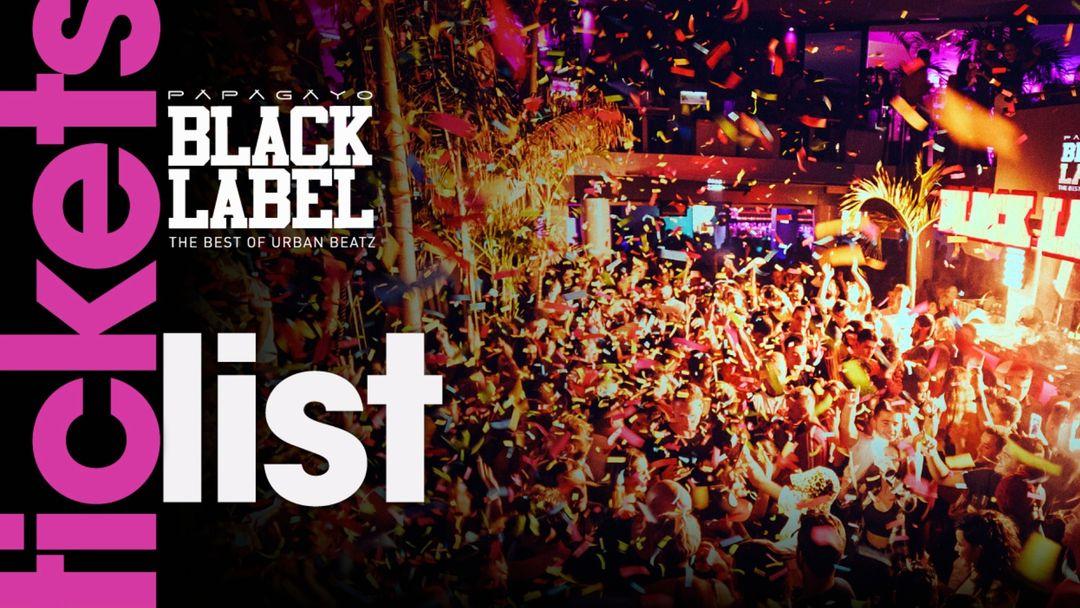 Cartell de l'esdeveniment Black Label