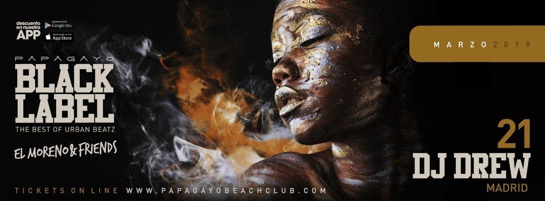 'Black Label' presents Dj Drew-Eventplakat