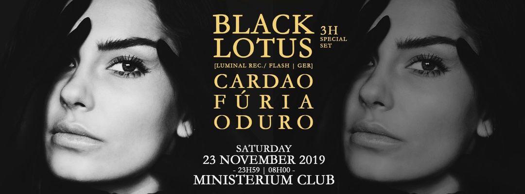 Cartell de l'esdeveniment Black Lotus | Disturb • Sinners & Anarchists
