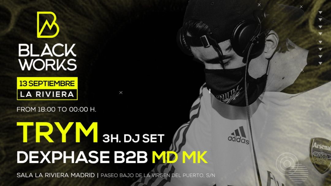 Capa do evento Blackworks: Trym + Dexphase b2b MDMK