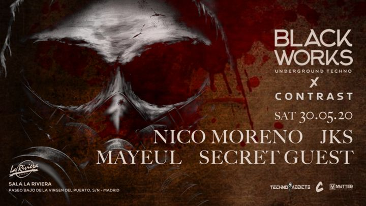 Cover for event: Blackworks x Contrast: Nico Moreno, JKS, Mayeul y Secret Guest