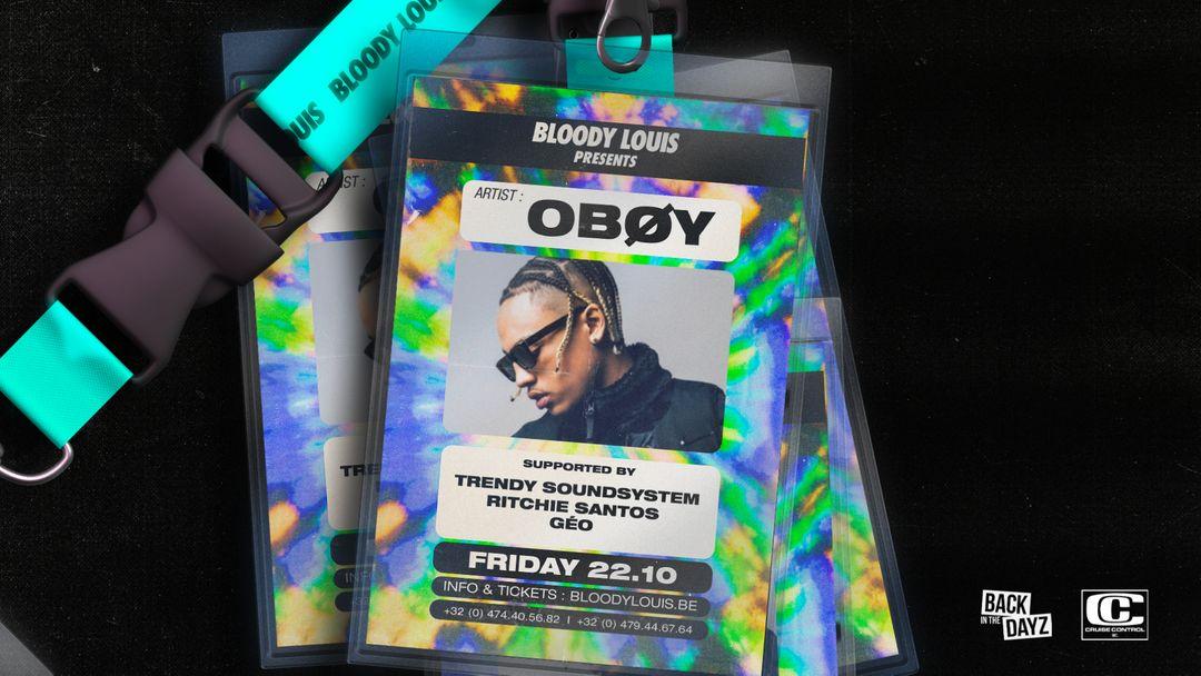 Cartel del evento OBOY • LIVE SHOW