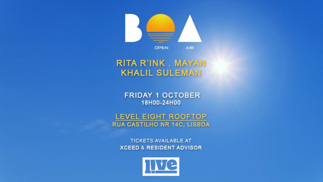 Cartel del evento BOA Open Air   Lisboa Rooftop event