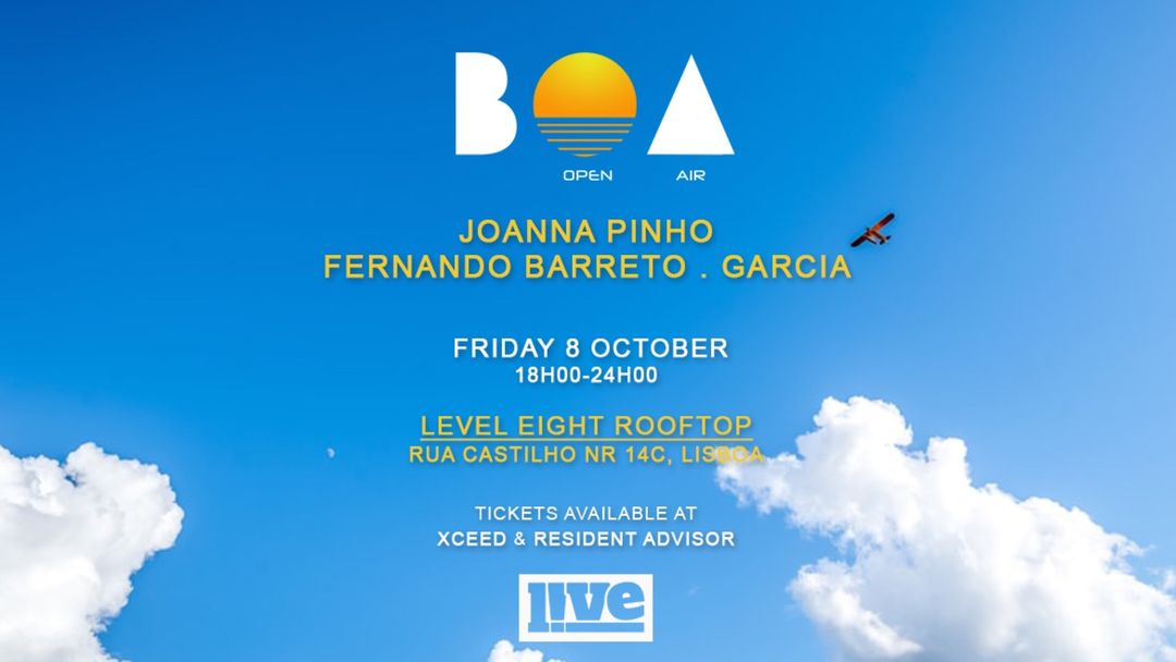 Cartel del evento BOA Open Air [rooftop party] Lisboa