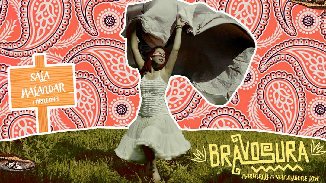 Cartel del evento Bravosura con Marinelli & Skinnybone Love