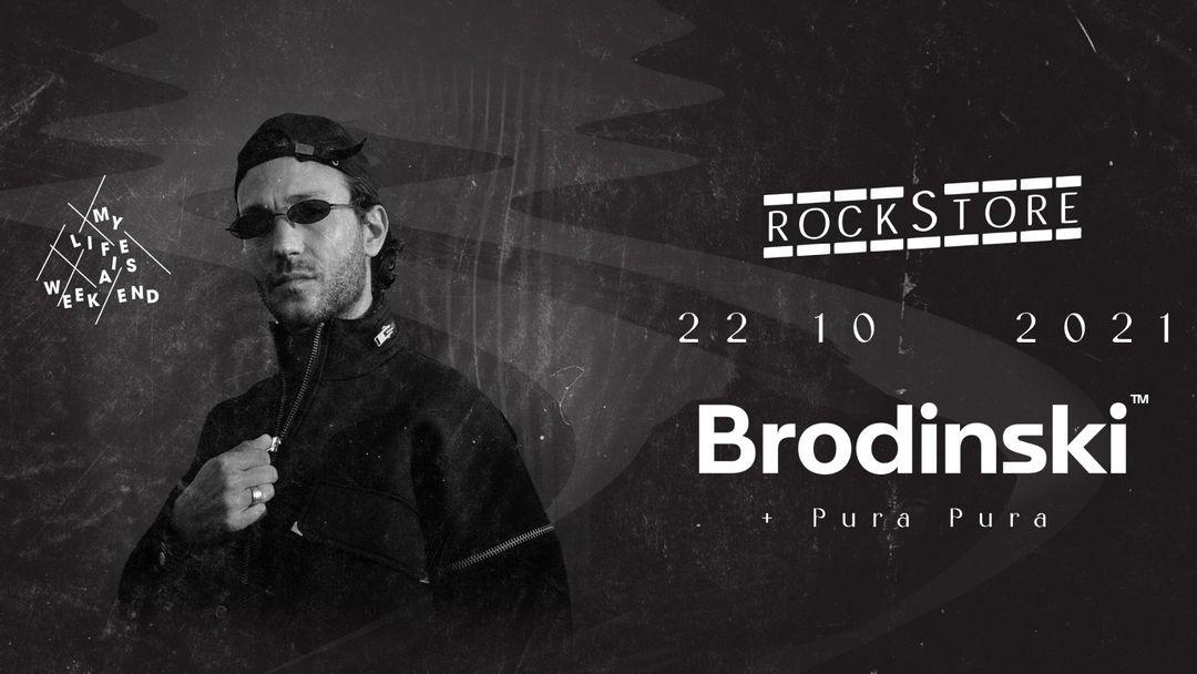 Cartel del evento Brodinski • Rockstore, Montpellier