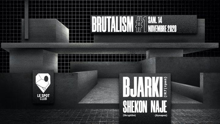 Cover for event: Brutalism #1 : Bjarki (!K7 | ᴛрип)