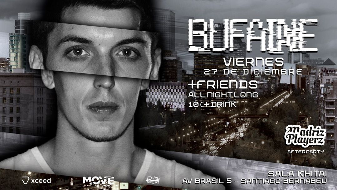 BUFAINE ALL NIGHT LONG (MADRIZ PLAYERZ AFTERPARTY) event cover