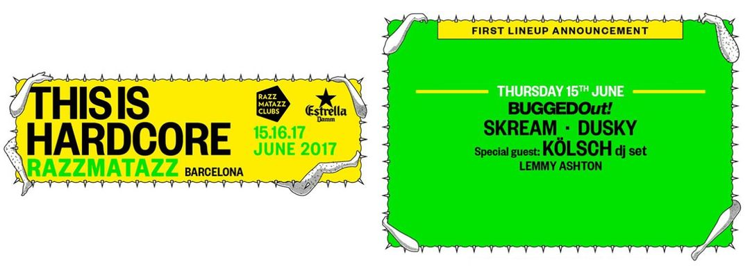 Cartel del evento Bugged Out! w/ Skream · Dusky · Kölsch | This is Hardcore 2017 | Off Week