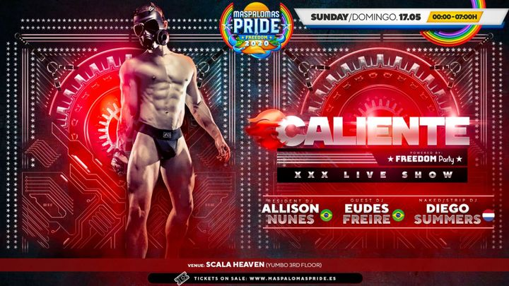 Cover for event: CALIENTE Powered by FREEDOM Party  - XXX Live Show - Men Only Official Event Maspalomas Pride 2020