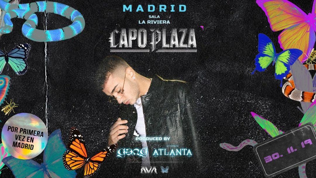 Cartel del evento Capo Plaza MADRID by GANG