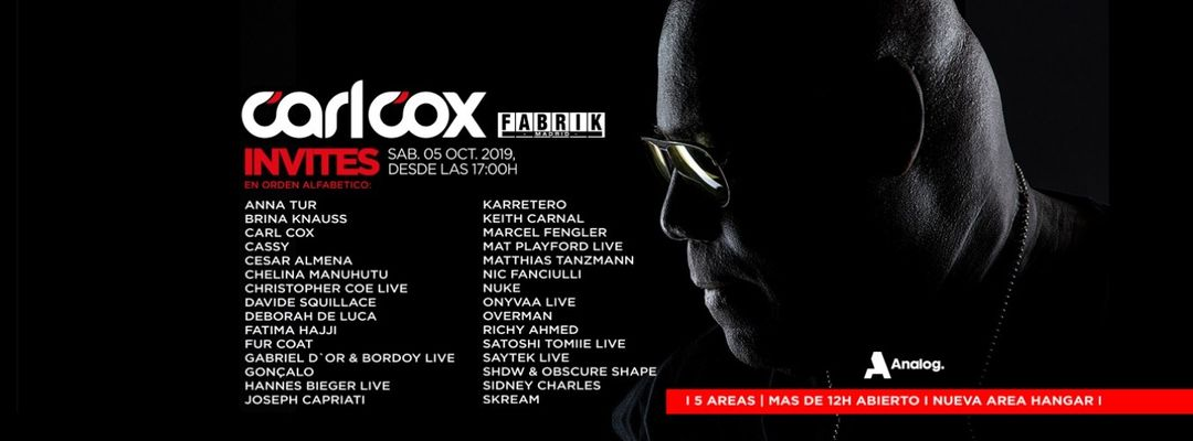 Carl Cox event cover